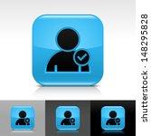 user icon set. blue color...