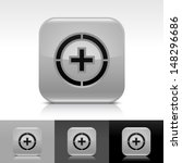 plus in circle icon. gray color ...