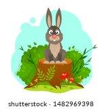 Illustration Of A Bunny Sittin...