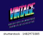 vector of stylized modern font... | Shutterstock .eps vector #1482973385