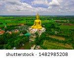 Big Golden Buddha Statue With...