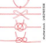 japanese decorative strings...   Shutterstock .eps vector #1482985508