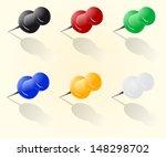 vector push pin set   Shutterstock .eps vector #148298702