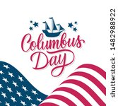 happy columbus day celebrate... | Shutterstock .eps vector #1482988922