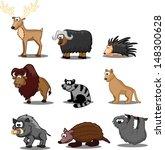 set of cute cartoon animals | Shutterstock .eps vector #148300628