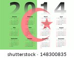 calendar design for 2014 with... | Shutterstock . vector #148300835