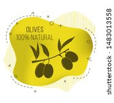vector banner with olive branch.... | Shutterstock .eps vector #1483013558