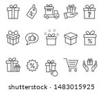 set of gift box icons  such as... | Shutterstock .eps vector #1483015925