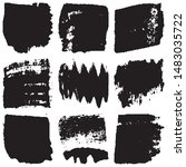 grunge brush vector. abstract... | Shutterstock .eps vector #1483035722