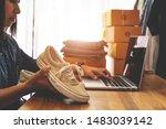 online selling e commerce... | Shutterstock . vector #1483039142