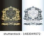 luxurious vintage monogram.... | Shutterstock .eps vector #1483049072