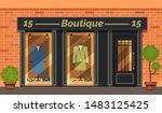 vintage boutique shop store... | Shutterstock .eps vector #1483125425