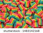 Rainbow Juicy Gummy Candies...