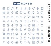 web icon set. line style | Shutterstock .eps vector #1483151795