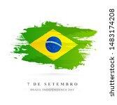 creative brazil national flag... | Shutterstock .eps vector #1483174208