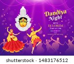 dandiya night dj party banner... | Shutterstock .eps vector #1483176512