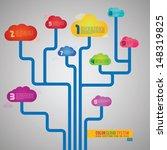cloud network | Shutterstock .eps vector #148319825