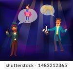 magic show vector illustration. ... | Shutterstock .eps vector #1483212365