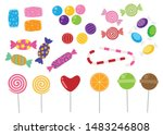 sweets and candies icon vector... | Shutterstock .eps vector #1483246808