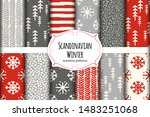 cute scandinavian winter hand... | Shutterstock .eps vector #1483251068