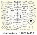 a large set of design elements... | Shutterstock .eps vector #1483296455