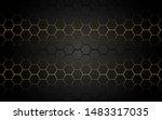 abstract yellow light hexagon... | Shutterstock .eps vector #1483317035