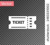 white ticket icon isolated on... | Shutterstock .eps vector #1483335002
