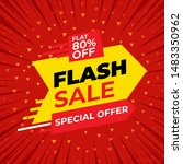 special offer flash sale banner ... | Shutterstock .eps vector #1483350962