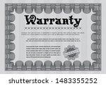 grey warranty. sophisticated... | Shutterstock .eps vector #1483355252