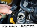check the engine oil condition... | Shutterstock . vector #1483357778
