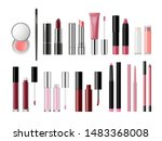 set of lip cosmetic products.... | Shutterstock .eps vector #1483368008