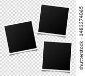 vector photo frame mockup design | Shutterstock .eps vector #1483374065