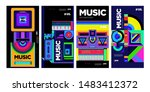 colorful music festival banner... | Shutterstock .eps vector #1483412372