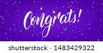 congratulations banner design... | Shutterstock .eps vector #1483429322