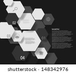 Abstract Design Hexagonal Shapes Background | Shutterstock vector #148342976