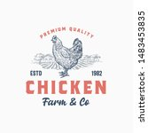 premium quality chicken farm... | Shutterstock .eps vector #1483453835