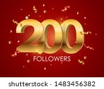 200 followers background... | Shutterstock .eps vector #1483456382