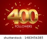 400 followers background... | Shutterstock .eps vector #1483456385