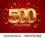 500 followers background... | Shutterstock .eps vector #1483456388