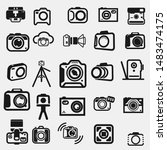 simple photography icons set....