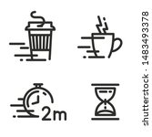 fast coffee cup icons. take...   Shutterstock .eps vector #1483493378