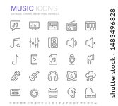 collection of music related... | Shutterstock .eps vector #1483496828