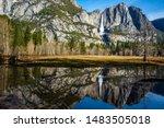 Reflection Of Yosemite Fall In...