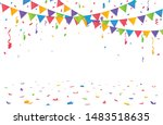 color confetti isolated on... | Shutterstock .eps vector #1483518635