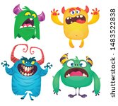 cute cartoon monsters. set of... | Shutterstock .eps vector #1483522838