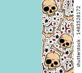 vector creepy pattern with... | Shutterstock .eps vector #1483528172