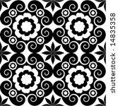 baroque decorative pattern   Shutterstock .eps vector #14835358