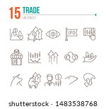 trade line icon set. growth ... | Shutterstock .eps vector #1483538768