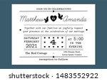 beautiful black and white retro ... | Shutterstock .eps vector #1483552922