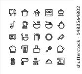 cooking vector icon set with...   Shutterstock .eps vector #1483564802
